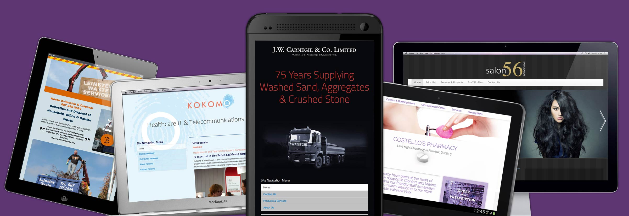 from mobile to widescreen - quality affordable Irish webdesign